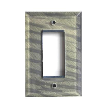 Deep Opal Glass Single Decora Switch Plate
