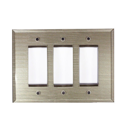 Dune Gold Glass Triple Decora Switch Cover