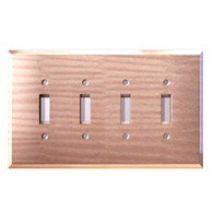 Light Bronze Glass Quad Toggle Switch Cover