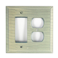 Sea foam Glass duplex outlet decora switch cover