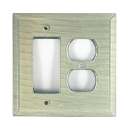 Sea foam Glass duplex outlet decora switch cover