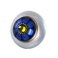 Mini tiki knob light Sapphire and lapis 2 in. diameter