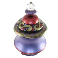Genie Jar Parfum in periwinkle, ruby, and jade green  paint finish.
