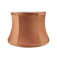 Lamp shade drum in silk pecan brown