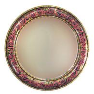 """Aurora Mirror 36"""" round in Maltese color scheme"""