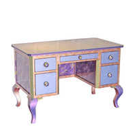 Jitterbug desk small in periwinkle and jade small version