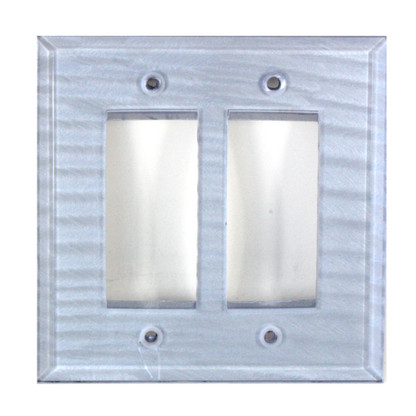 Light Sapphire Glass Double Decora Switch Cover