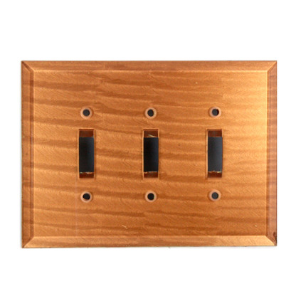 amber Glass Triiple Toggle Switch Cover