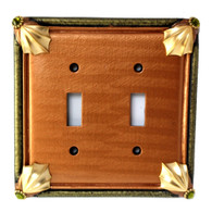 Cleo Amber Double Toggle Switch Cover