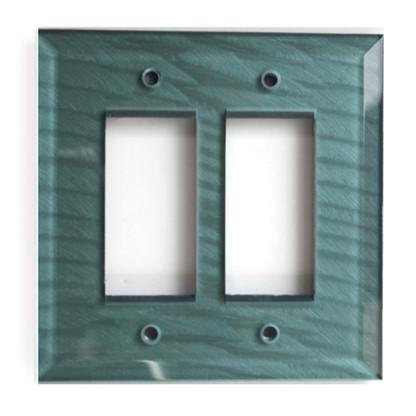 Aqua Glass Double Decora Switch Cover