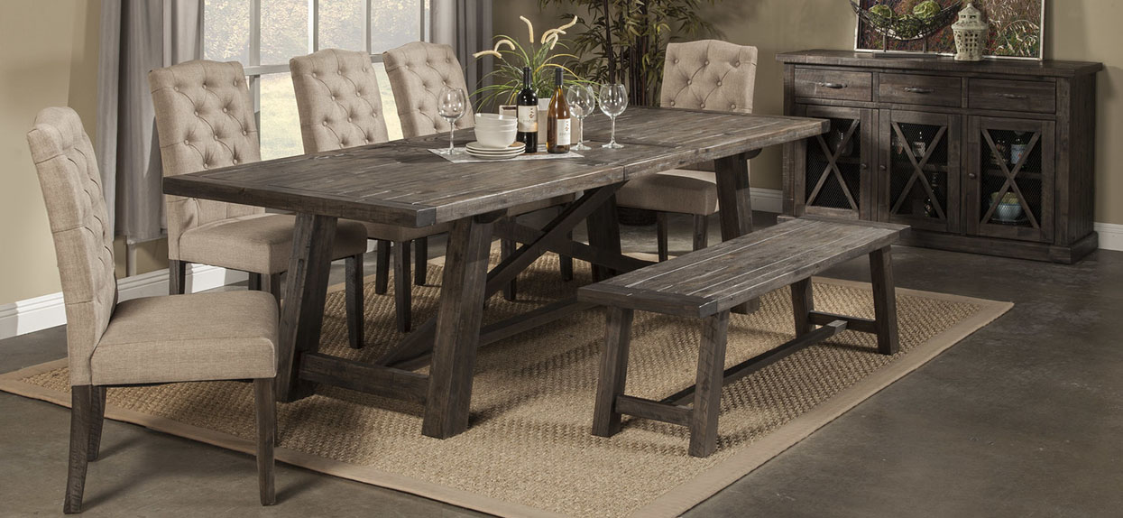 Newberry Dining Table Set By Alpine Furniture