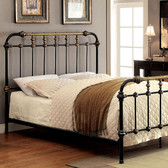 Furniture of America CM7733 Black Metal Platform Bed | Platform Bed