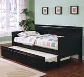 Black Bed with Under Bed Trundle