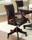 Dark Mahogany Arm Game Chair
