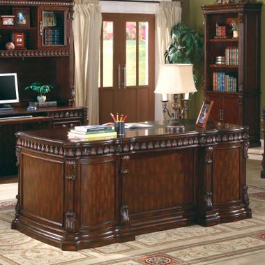 Jordan Rich Brown Home Executive Office Desk