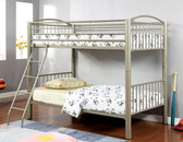 Metallic Gold Twin Metal Bunk Bed