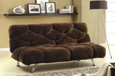 Chocolate Fabric Futon Sofa Bed
