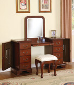 Brown Cherry Vanity Dressing Table Set