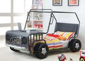 Gun Metal Twin Rover Car Bed