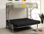Silver Metal Twin Futon Bunk Bed