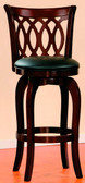 Dark Cherry Swivel Bar Stool