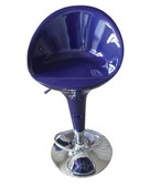 Blue Adjustable Air Lift Bar Stools