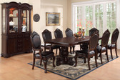 """84"""" Formal Cherry Dining Table Set Poundex Furniture"""
