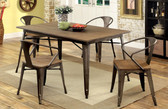 Cooper Natural Elm Fixed Table Set by Furniture of America