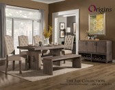 Fiji Weathered Gray Dining Table Set from Origins by Alpine Furniture