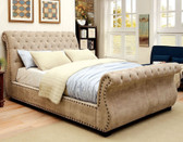 Furniture of America CM7127 Mocha Sleigh Bed | Sleigh Beds