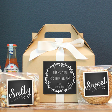 Wedding Welcome Boxes - Laurel Chalkboard Label