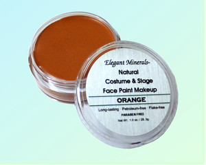 Set of 10 x Lrg 1 oz. Natural Face Paint & Costume Makeup Jar
