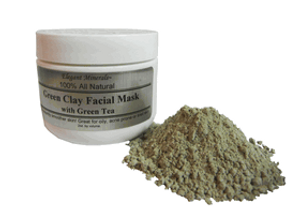Set of 10 Natural Green Clay Facial Mask