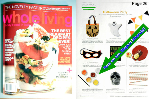 Our Natural & Organic Face Paints are Recommended by Martha Stewart Whole Living Magazine!