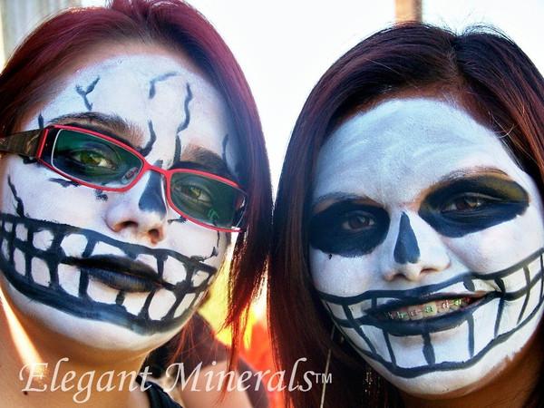 Set of 10 x Lrg 1 oz. Natural Face Paint & Costume Makeup Jar