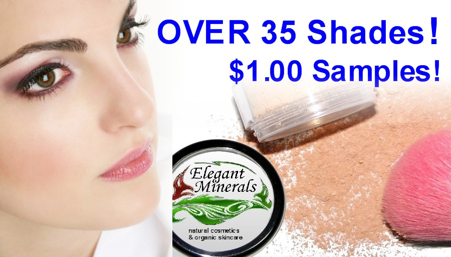 Over 35 mineral makeup samples for only $1.00