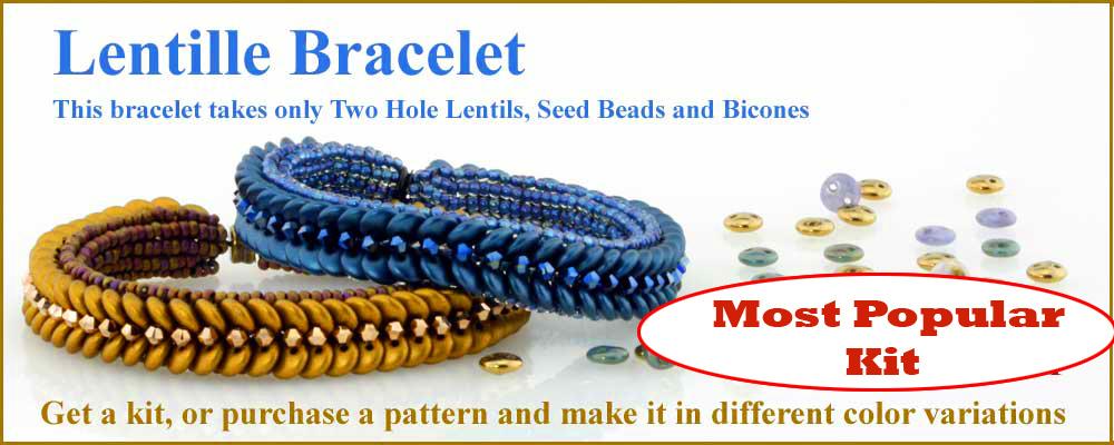 Czech Two Hole Lentil Bracelet