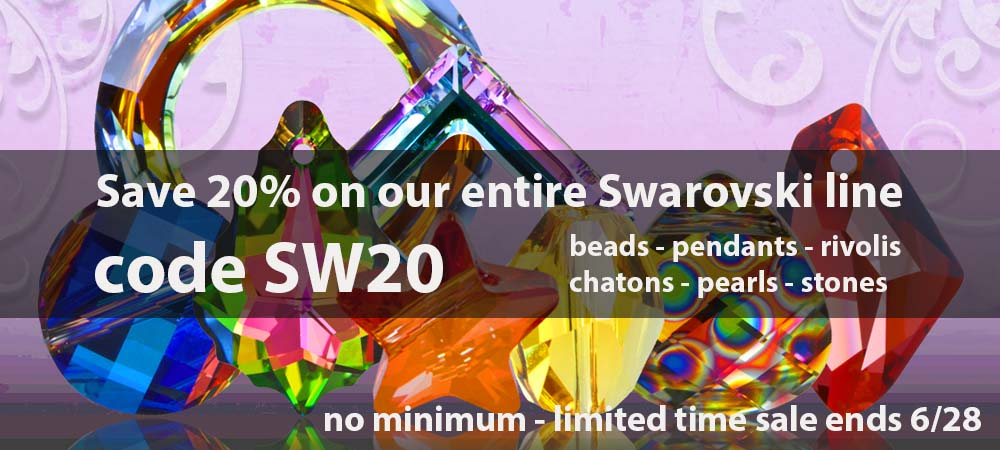 save 20% on Swarovski Crystal