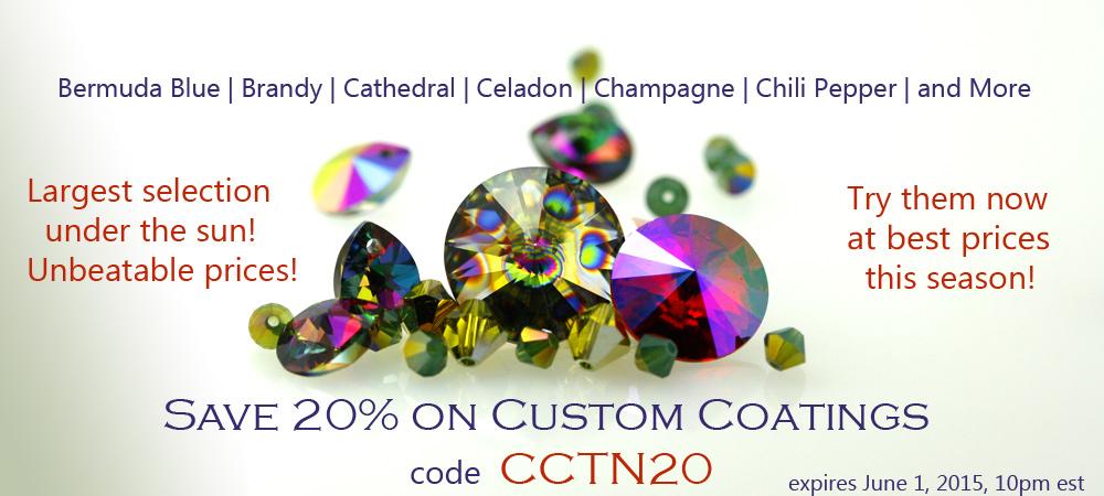 Custom Coating Swarovski Crystal Sale