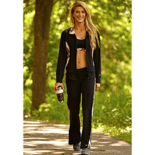 Wilderness Dreams Yoga Pants - Black with Camo Trim