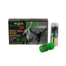 "Brenneke Heavy Field Short Mag 12ga 2-3/4"" 1-1/4"" Green Lightning"