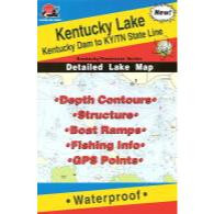Fishing Hot Spots Kentucky Lake-central Map