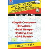 Fishing Hot Spots Lake Of The Woods Map