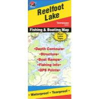 Fishing Hot Spots Reelfoot Lake Map
