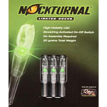Rage Nockturnal Lighted Nock Standard Green 3pk