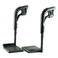 80 Degree Swing-Away Leg Rest Assembly (Left and Right) for Jazzy, Jet, and Quantum Power Chairs. Sold as Pair