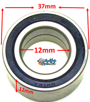 B160 - 12mm ID x 37mm OD x 12 H. Sold as set of 4 bearings.