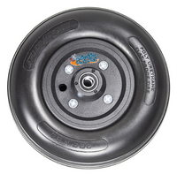 "CWB191 8 x 2"" STANDARD TWO PIECE CASTER, 5/16"" Bearings, 2 1/2"" Hub Width Urethane Tire"