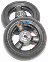 "4"" x 1 1/4"" Caster wheel with 1"" hub lenght and 5/16"" Bearings"