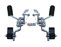 WL085P ANTI-ROLL BACK WHEEL LOCK - INVACARE STYLE FOR FIXED ARMREST. SOLD AS PAIR